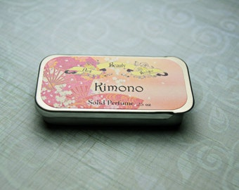 Solid Perfume -  Kimono - Perfume Crème Tin - citrus, floral, musk