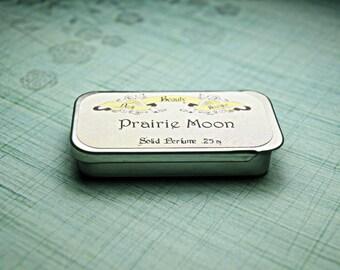 Solid Perfume -  Prairie Moon - Perfume Crème Tin - Lavender, Sage, Ginger, Lime, Evergreen, Musk
