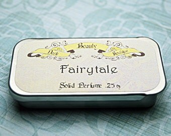 Solid Perfume - Fairytale - Perfume Crème Tin - Strawberry, Narcissus, Rose, and Magic