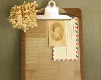 Vintage Brown Clipboard