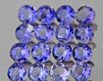 Light Lavender Blue, Iolite Faceted Rounds, 2 MM, Natural Gemstones, Price Per Stone