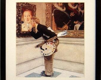 Norman Rockwell Poster Art Critic Framed Art Print