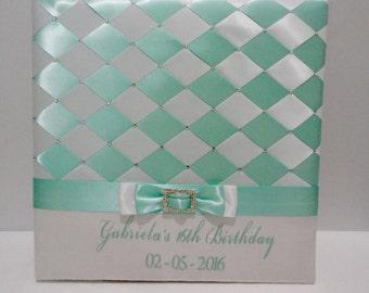 Sweet 16 Photo Album, Wedding Photo Album, Personalized Photo Album, Quinceañera Photo Album, Swarovski Crystals, 4x6 Photos - Custom Order