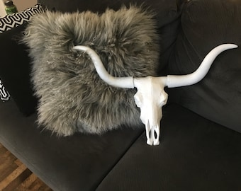 Large Texas Longhorn - White - Faux Skull TL01