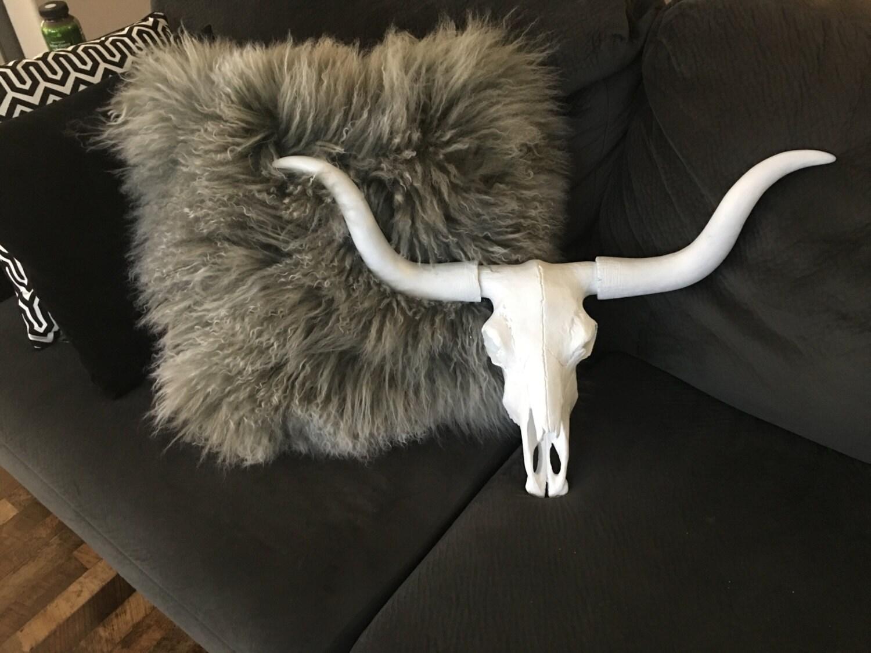 Large Texas Longhorn White Faux Skull Tl01