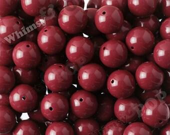 20mm - 10 PACK of Burgundy Maroon Dark Red Gumball Beads, Chunky Acrylic Beads, 20mm Chunky Beads, 20mm Beads, 20mm Gumball Beads, 2mm Hole