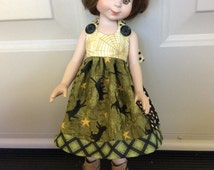 """Doll clothes, Halloween, black cat,  14"""" Tonner, Betsy McCall, Wellie Wisher"""