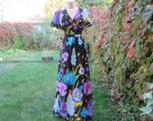 Hippie Long Dress Vintage / Maxi / Bohemian / Size EUR40 / UK12