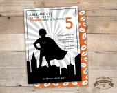 Super Hero, Super Boy, Birthday Invite, Baby Shower, Printable
