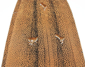 Vintage 80s Leopard Print Skirt
