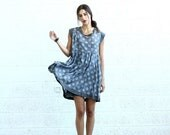 Valentines day Summer Sale Polka Dot dress, Gray