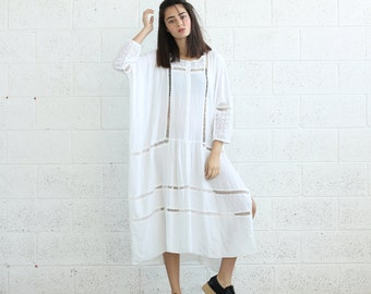 SALE!Breeze Kaftan Dress, White