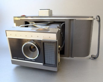 Vintage Polaroid Land Camera Model J66 Outfit with case - Check out all of our Polaroid cameras