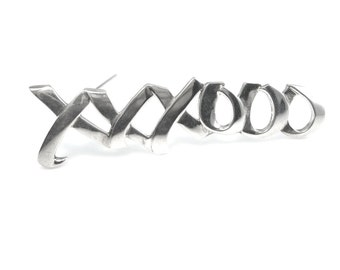 Tiffany & Co. Brooch. Paloma Picasso Sterling Silver Jewelry, XO Kisses and Hugs, 1980's Vintage Jewelry