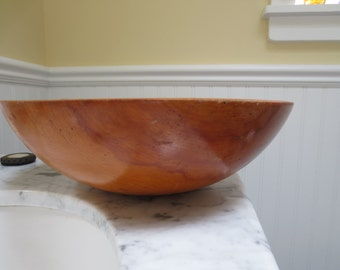 Mid Centry Parrish Wooden Salad Bowl