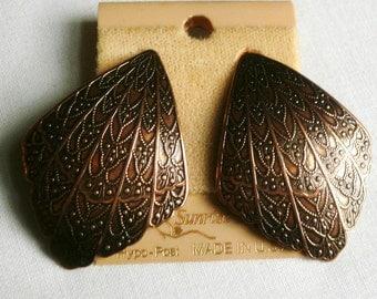Vintage Copper Pierced Earrings