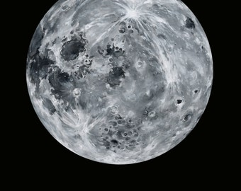 Luna Eastview Moon Print of Oil Painting