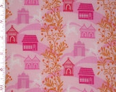"Fabric 1 Yard  LITTLE FOLKS VOILE Forest Hills Berry Pink 54/55"" Wide  Anna Maria Horner Floral Waves Quilting Sewing"