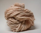 Yarn Thick and Thin Super Bulky Slub Handspun Wool Tts(tm)  Merino Hand dyed Half-Pounder Ballet Pink Flats 01