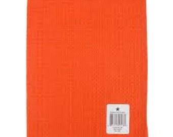 Towel - Plain Weave - Orange - Tea Towel - Embroidery Blank - K310