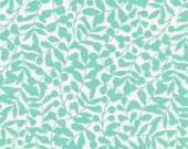 First Light Branch in Turquoise, Eloise Renouf, 100% GOTS-Certified Organic Cotton, Cloud9 Fabrics, 134503