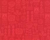 Lil' Red Grandma's Wallpaper in Red, Stacy Iest Hsu, 100% Cotton, Moda Fabrics, 20504 13