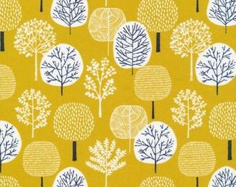 First Light Forest in Citron, Eloise Renouf, 100% GOTS-Certified Organic Cotton, Cloud9 Fabrics, 134304