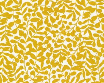 First Light Branch in Citron, Eloise Renouf, 100% GOTS-Certified Organic Cotton, Cloud9 Fabrics, 134504