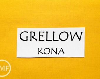 One Yard Grellow Kona Cotton Solid Fabric from Robert Kaufman, K001-476