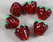 6 Strawberry beads (Item 160183)