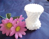 Vintage Fenton Hobnail Milk Glass Toothpick Candle Holder # 3895, Early 1970s Kitchen Collectible Glassware, Vanity Q Tip Holder