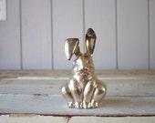 Vintage Large Silver Rabbit // Silver Bunny