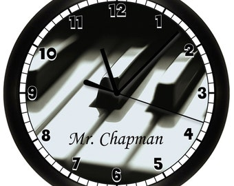 Piano Wall Clock Musician Music
