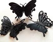 Wedding Decoration, Paper Butterflies, Black Butterflies, Paper Butterfly, Butterflies for Scrapbooking, Butterfly Die Cuts