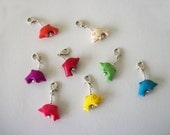 Dolphin Removable Stitch Markers for Crochet or Knit Stone Stitch Markers Howlite