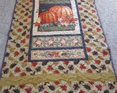 Pumpkin Patch Throw Quilt