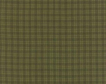 Fabric by the Yard - Delightful December by Sandy Gervais for Moda - Plaid Green