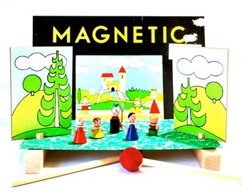 Magnetic Play Theatre Made in Czechoslovakia by Tofa