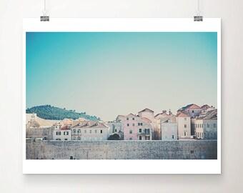 Dubrovnik photograph Dubrovnik city walls photograph Dubrovnik old town photograph architecture photography travel photography