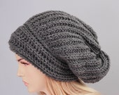 Big Sale -Slouchy beanie  oversized beanie hat winter knit hat for woman   -COLOR OPTION  AVAILABLE