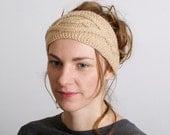 Womens Headband, Headbands ForWomen, Hand Knit Headband, Headbands, Ear Warmer, Light Caramel, Accessories Handmade Gift for her