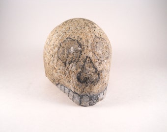 Rock  Skull Head No Body Teeth Eyes Nose Display