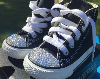 Sparkly Swarovski Crystal High Top Toddler Converse - Made To Order