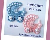 Baby Stroller Applique Crochet PATTERN PDF, Carriage, buggy, prum
