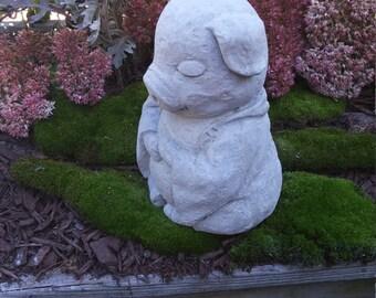 Concrete BUDDHA PIG Statue