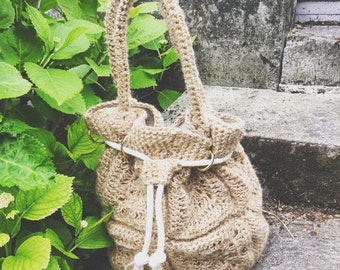 Crochet bag pattern, bucket bag crochet pattern