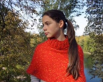 hand knitted neck warmer, capelet, shawl, scarf