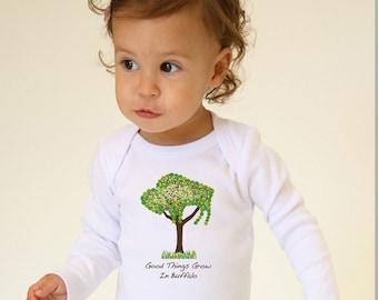 Long Sleeve 'Buffalo Tree' Onesie - 'Good Things Grow in Buffalo'