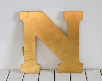 Vintage Shop Signage, Letter N