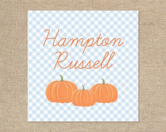 25 Personalized Pumpkin Tags